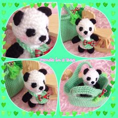 ★ Limey Green ★ Panda in a Bag Little princess will love to carry around  a little panda in a bag http://www.etsy.com️shop/princessindreams  #etsy #kawaii #cute #amigurumi #panda #kidstoy  #kidsaccessories #girls #princess #giftidea  #crochet #softtoy #kawaiishop #handmade https://www.facebook.com/photo.php?fbid=505279662943701&set=a.388208484650820.1073741830.100003850144679&type=1&permPage=1