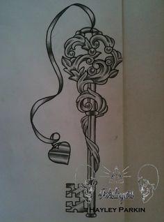 Key Tattoo.....I don't really like the heart charm.