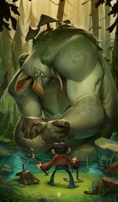 Troll Hunter, Max Grecke on ArtStation at https://www.artstation.com/artwork/vxg2O