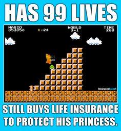 Even Super Mario knows he isn't invincible.