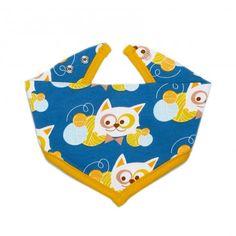 Baby Bandana, Cat (blue) / Petit foulard enfant