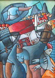 """Pecheur Bleu"" x Acrylic on board marouflé Acrylic Art, Sonic The Hedgehog, Mauritius, Wall Art, Fictional Characters, Canvas, Board, Artist, Mauritius Island"