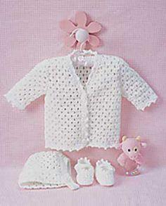 Lacy Set - Free Crochet Pattern - (yarnspirations) http://www.yarnspirations.com/lacy-set-to-crochet.html
