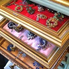 Gorgeous jewelry storage idea!
