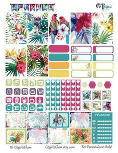 FREE Paradise Planner Printable  by gtgirlzblog