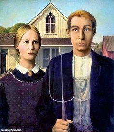 American Gothic Painting Gets a Facelift Pictures - Freaking News