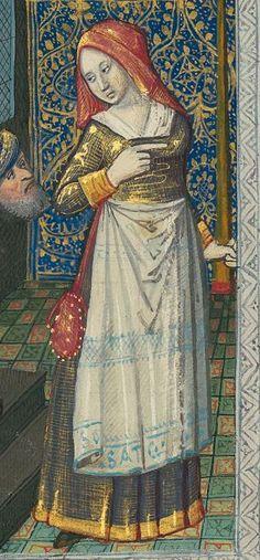 Titre : « Le Livre des faiz monseigneur saint Loys », composé à la requête du « cardinal de Bourbon » et de la « duchesse de Bourbonnois ». Date d'édition : 1401-1500 Français 2829 folio 98r