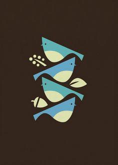 Blue Jays art print by Bee Things