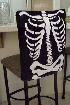 chair covers oriental trading heavy duty lift recliner diy halloween: no-sew ghost from oyveyaday.com halloween cover, ...
