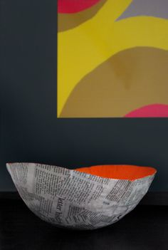spoonful of colour: add a little colour to your everyday: How to: Recycled newspaper bowl