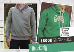 Nähanleitungen Mode - eBook Herzkönig, Gr. XXS - 3XL - ein Designerstück von FredvonSOHO bei DaWanda