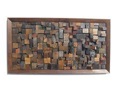 Obraz SHW 3281_60 x 30. Originální obraz ručně vyskládaný kousek po kousku z lodního dřeva. Jedná se o dřevo starých vysloužilých lodí Dálného východu - z Filipín, Malajsie, Thajska, Vietnamu, Číny... Celý obraz je vsazený do kvalitního dřevěného rámu. Vietnam