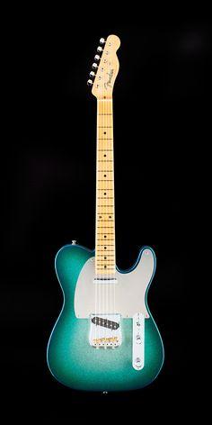 Fender MasterBuilt 54 Telecaster 2016 Candy Blue-Jade over Silver Sparkle