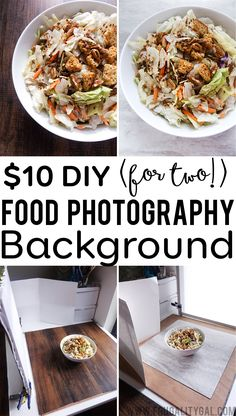 Make your own $10 DIY Food Photography Backgrounds. Make two food photography backgrounds for just $10. No special tools required!