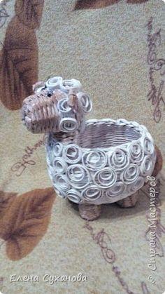 Поделка изделие Плетение Овечка Бумага фото 4