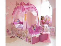 Disney Princess Carriage Toddler Canopy Bed