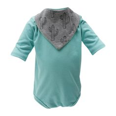 Turquoise Body With Two Bandana Bibs Bandana Bib, Simple Dresses, Bibs, Dressing, Bodysuit, Tunic Tops, Turquoise, Unisex, Teething