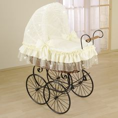 Antique crib - so elegant...!