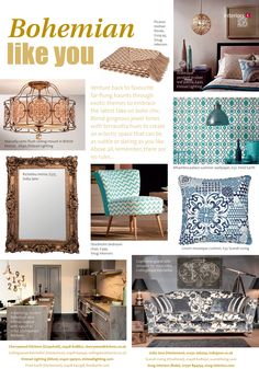 Bohemian like you ~ A fresh take on boho-chic. Boho Chic, Bohemian, Surrey, Home Accents, Home And Garden, Gardens, Homes, Interiors, Fresh