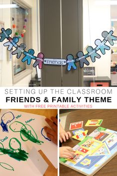 Setting Up the Classroom: Friends and Family Theme We've set up our toddler and preschool classroom this week for the friends and family theme. We made a family tree and a friendship banner and sang some fun friendship songs! Friendship Theme Preschool, Preschool Family Theme, Preschool Classroom Setup, Friendship Crafts, Toddler Classroom, Preschool Learning Activities, Preschool Themes, Friendship Songs, Family Activities