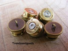 5 X  Handmade Bullet Buttons Norma 308 Sweden Antik Bronze  KN001 by Trendsandgoods on Etsy