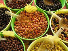 Olives at the market in Bedoin, France