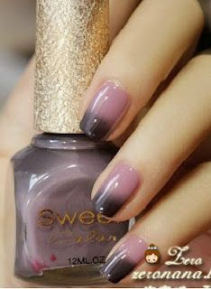 Intense color changing polish shipped from Singapore. It's probably easier to create this effect with sponging. #nail art manicure ... Nails. www.SimpleNailArtTips.com