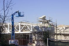 Path Opens, Gives a Peek of 'Star Wars' Land Construction Zone Inside Disneyland #heavyequipment #construction