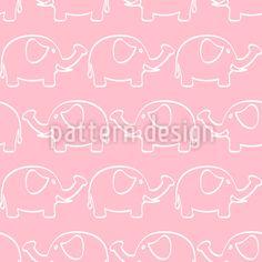 Baby Elefanten Parade Vektor Muster by Tanya Laporte at patterndesigns.com