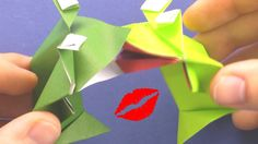 How to make a Kissing Frog action Origami