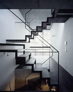 Stairs at Lattice House. Architects: APOLLO Architects & Associates. Location: Tokyo, Japan