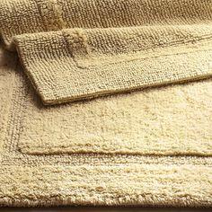 Reversible Cotton-Blend Linen 27x45 Bath Rug Tan
