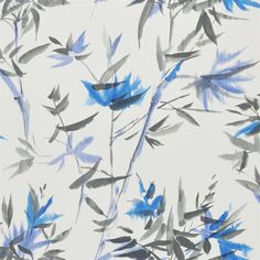 bamboo - cobalt wallpaper | Designers Guild