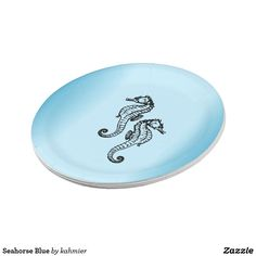 Seahorse Blue Paper