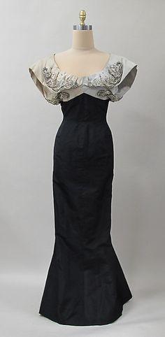 Evening dressDesigner: Charles James (American, born Great Britain, 1906–1978) Manufacturer: (sample made for) Samuel Winston Date: 1952–53 Culture: American Medium: silk