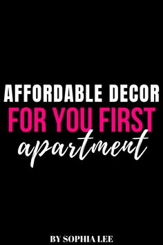 the best stores for cheap apartment decor. perfect for first apartment