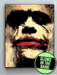 Batman Joker Heath Ledger Glow In The Dark Framed Cool Horror Blacklight Mini Movie Poster