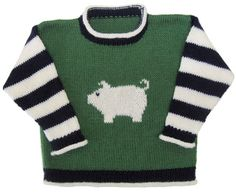 Pig Pullover pattern by Gail Pfeifle, Roo Designs