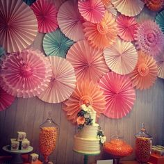 Love this backdrop for a dessert spread by Minted (via Darcy Miller's Instagram).