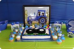 Big Blue Tractor Boy's Birthday