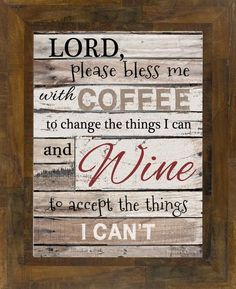Lord Bless Me With Wine and Coffee Black Blocking SS9820                         – Summer Snow Art
