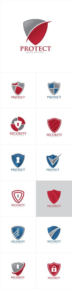 Vectors - Shield Protection Security Logo Icon