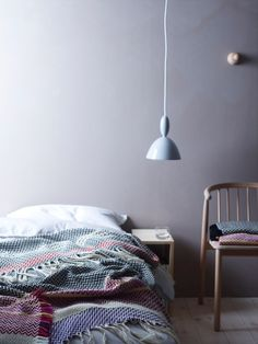 Bedroom Pendant Lights: 40 Unique Lighting Fixtures That Add Ambience To Your Sleeping Space - Home Oslo, Home Bedroom, Bedroom Decor, Bedrooms, Bedroom Wall, Pendant Lighting Bedroom, Pendant Lights, Interior And Exterior, Interior Design