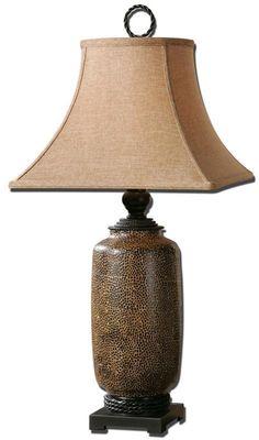 Uttermost 26854 Gravina Antique Chocolate Lamp