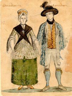 Canadian Couple (c. 1750-1780). #newfrance #historicalfashion