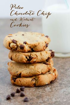 Paleo Chocolate Chip and Walnut Cookies:: Paleo Spirit