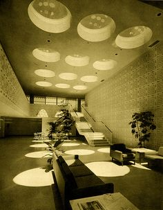 excitingsounds: Edward Durell Stone 1962 by. Vintage Architecture, Architecture Details, Interior Architecture, Interior And Exterior, Arch Interior, Interior Design, Interesting Buildings, Vintage Interiors, Mid Century Modern Design