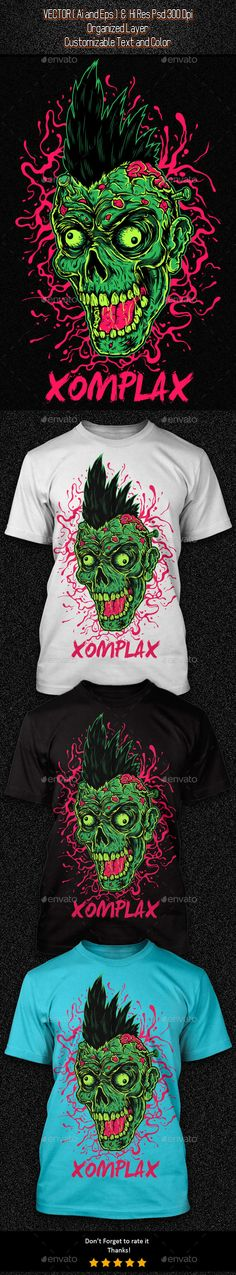 Zombie Punk Illustration #design Download: http://graphicriver.net/item/zombie-punk-illustration/11554171?ref=ksioks