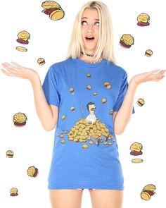 BOB IN A PILE OF BURGERS TEE at shopjeen.com