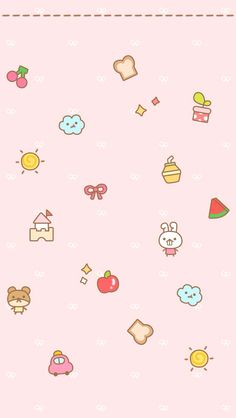 Fwee! *^>^* Sanrio Wallpaper, Pretty Phone Wallpaper, Cover Wallpaper, Couple Wallpaper, Kawaii Wallpaper, Pink Wallpaper, Pattern Wallpaper, Iphone Wallpaper, Kawaii Doodles